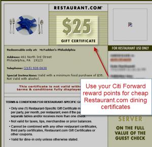 Restaurant Dining Certificate